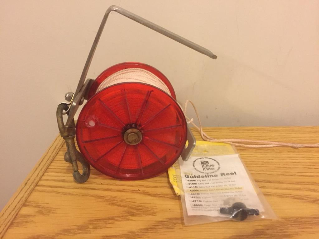 **ITEM SOLD** Dive Rite 122m reel and SMB with bottle - SPARES/REPAIR