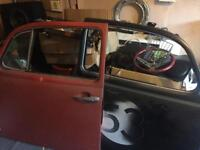 Classic beetle doors , beauty rings and various spares front speakers and mounts