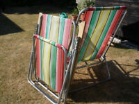 2 RETRO 1960s GARDEN CHAIRS