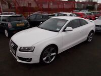 AUDI A5*QUATTRO COUPE*3.0 TDi S-LINE**2008-58*LOW MILES*MASSIVE SPEC**STUNNING WHITE*AWESOME LOOKER*