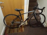 Specialized racer bike with 28 wheel size and 18 inch frame