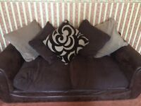 Large chocolate brown sofa collection only