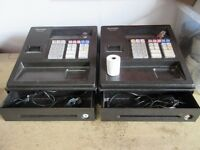 2 X Sharp XEA107BK Cash Register, Black USED £80 FOR BOTH!!