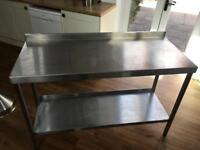 2 Food prep tables stainless steel