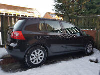 VW Golf MK5 black, 1.9 TDI, 12 months MOT, 4 new tyres