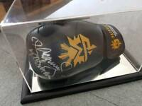 Manny pacquiao boxing glove in a mirrored bottom presentation case with full coas