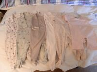 9 Baby Grows for sale mainly suit girl 12-18 months