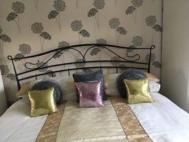 Metal frame super king size bed