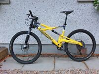 """Canondale Prophet SL dual suspension mountain bike with Lefty fork 26"""" wheels"""