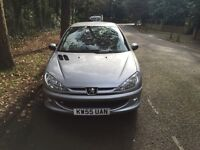 Peugeot 206, 1.4 petrol, manual , 12 months MOT, CAMBELT replaced in last two years