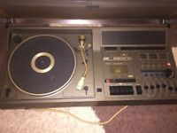 Vintage record player and tape deck