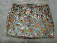 Hand beaded & sequined French Connection Mini Skirt - Size 12