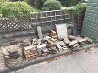 Garden slabs and stones