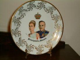 Princess Grace of Monaco Souvenier Plate