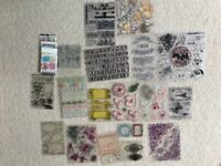 Clear rubber stamps- job lot including hero arts and Hampton art