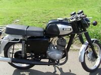 MZ TS150,Very low miles only 3 previous owners,has current MOT