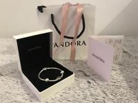 Pandora bracket with love heart charm