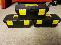 3 Small Storage Boxes Tool Boxes