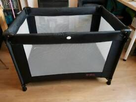 Black red kite travel cot for sale