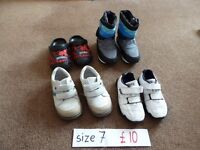 boys shoes, trainers bundle size 7 - all in excellent condition