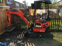 Kubota u17-3a mini digger with only 12 hours on the clock