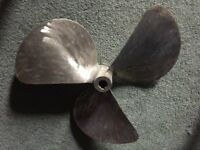 Boat/marine Bronze 3 Blade Right Hand Propeller 20inch Dia X 12inch Pitch