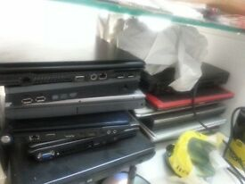 20 Scrap Laptops selling as spare parts for clearance. £10 each. All in a lot.