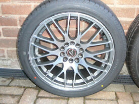 "Brand New WOLFRACE ALLOY WHEELS 215 45 17 TYRES Mitsubishi Nissan 17"" INCH 5x114 alloys wheel"