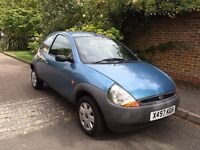 Blue Ford KA 1.3L 2000 - One previous owner.