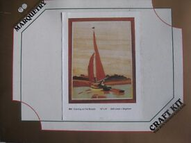 Wooden sail boat picture to make