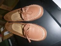 BRAND NEW WITHOUT BOX HOTTER HONITON BROWN LOAFERS FLATS 6