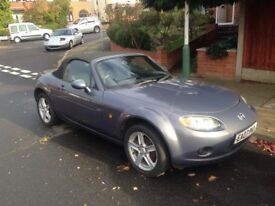 2007 MAZDA MX-5. 57000 MILES WITH MOT AND SERVICE HISTORY.