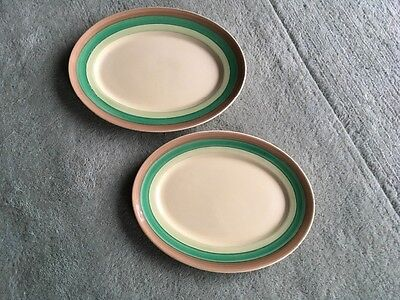 "Clarice Cliff ""Bizarre"" Oval Platters x  2."