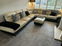 DFS Corner sofa, footstool & chair