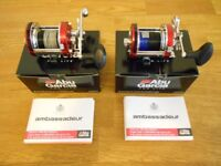 2 x ABU 6500 Hi Speed Mag multiplier sea fishing reels