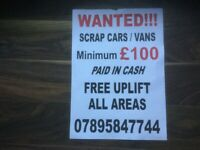 Wanted scrap Astra's min £100