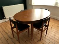 Vintage Schreiber Extending Dining Table and 4 Chairs