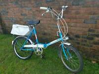 Universal vintage folding bike, ideal caravan