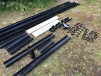 NEW Square Black Guttering (including joints & clips)