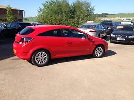 10 PLATE VAUXHALL ASTRA 1.4 SRI 3DR 31000MILES FSH IN RED £4975