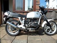BMW R80 1988 dual plugged white frame modified lovely ride