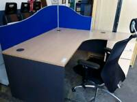 Corner Office Desk With Pedestal. Several Available. Price Each