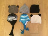 A MIXED VERIETY OF WOMEMS WOOLEN HATS, , MAINLY ANIMAL the,e