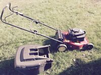 Mount field petrol lawnmower HP454 - hardly used. Was £299