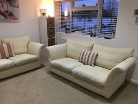 3 & 2 Seater Multiyork Sofa's in Cream