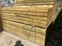 •New• Pressure Treated Wooden/ Timber Railway Sleepers - 195x95x2.4m