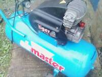 100l air compressor tiger turbo nearly new