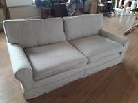 Three seater Sofa, comfy feather cushions