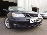 💥06 SAAB 9-3 (150BHP)2.0 CONVERTIBLE,MOT OCT 017,2 KEYS,2 OWNERS,FULL HISTORY,VERY LOW MILES CAR