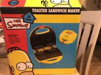 Simpsons toasted sandwich maker
